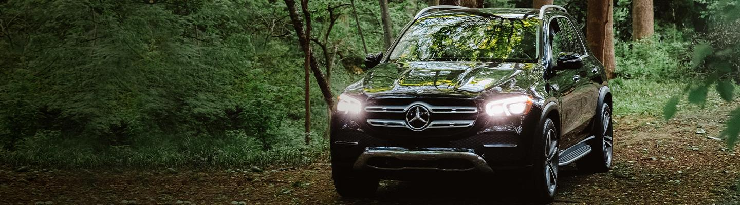 2020 Mercedes-Benz GLE parked in a forest