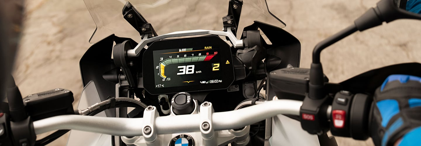 Drivers side perspective of the 2020 BMW R 1250 GS