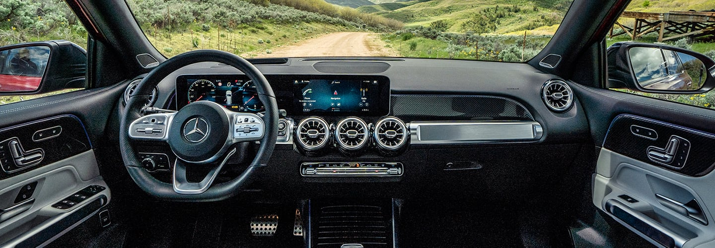 Interior view of the 2020 GLB