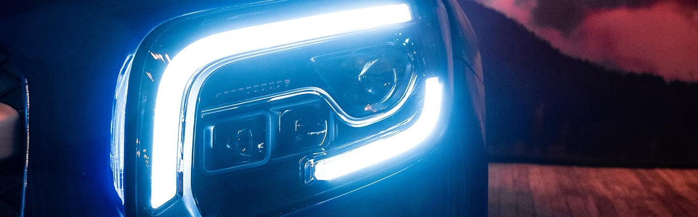 Bright headlights of the 2020 GLB.
