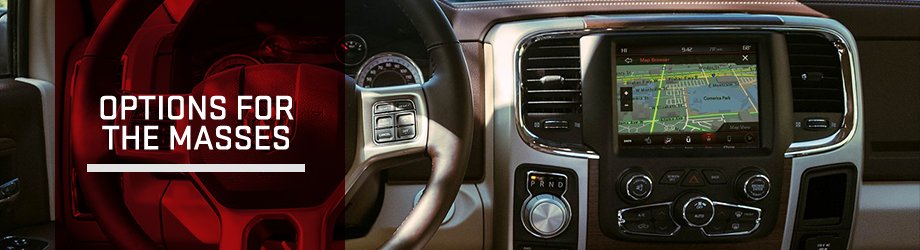 Safety features and interior of the 2018 RAM 1500 - available at Bob Moore CDJR near Edmond, OK and Yukon, OK