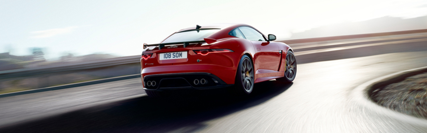 Tail end of the 2020 Jaguar F-Type in motion, available at Land Rover Ocala