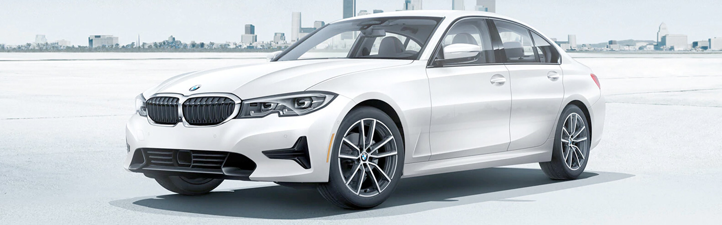 Exterior of a white 2020 BMW 3 Series