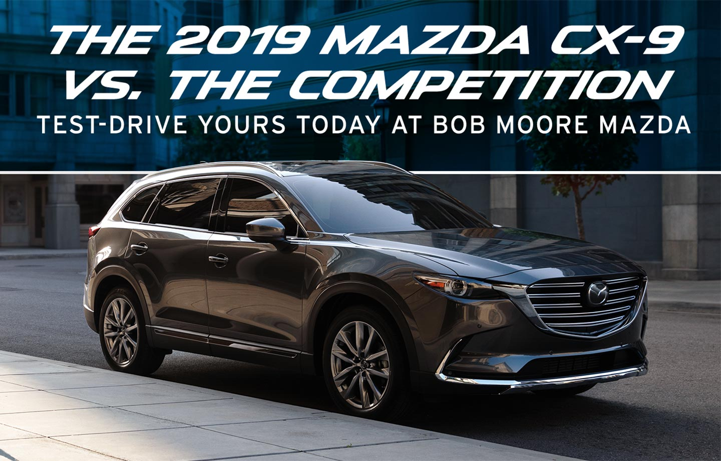 2019 Mazda CX-9 parked in city at Bob Moore Mazda.