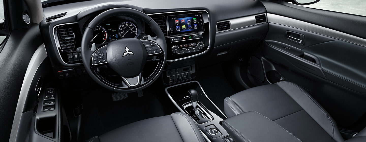 Safety features and interior of the Mitsubishi Outlander Sport for sale at our Mitsubishi dealership in Gainesville, FL.