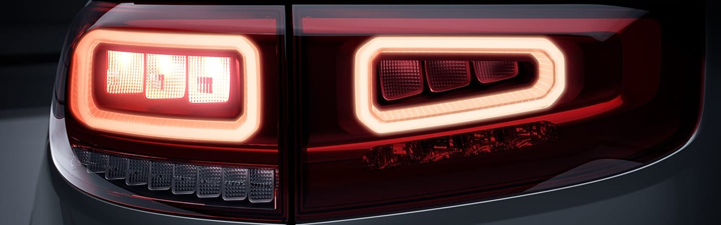 Bright tail lights of the 2020 GLB