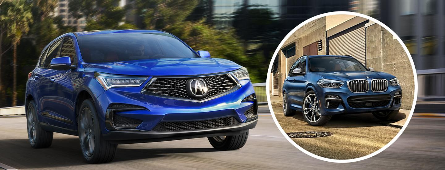 Picture of 2020 Acura RDX and BMW X3
