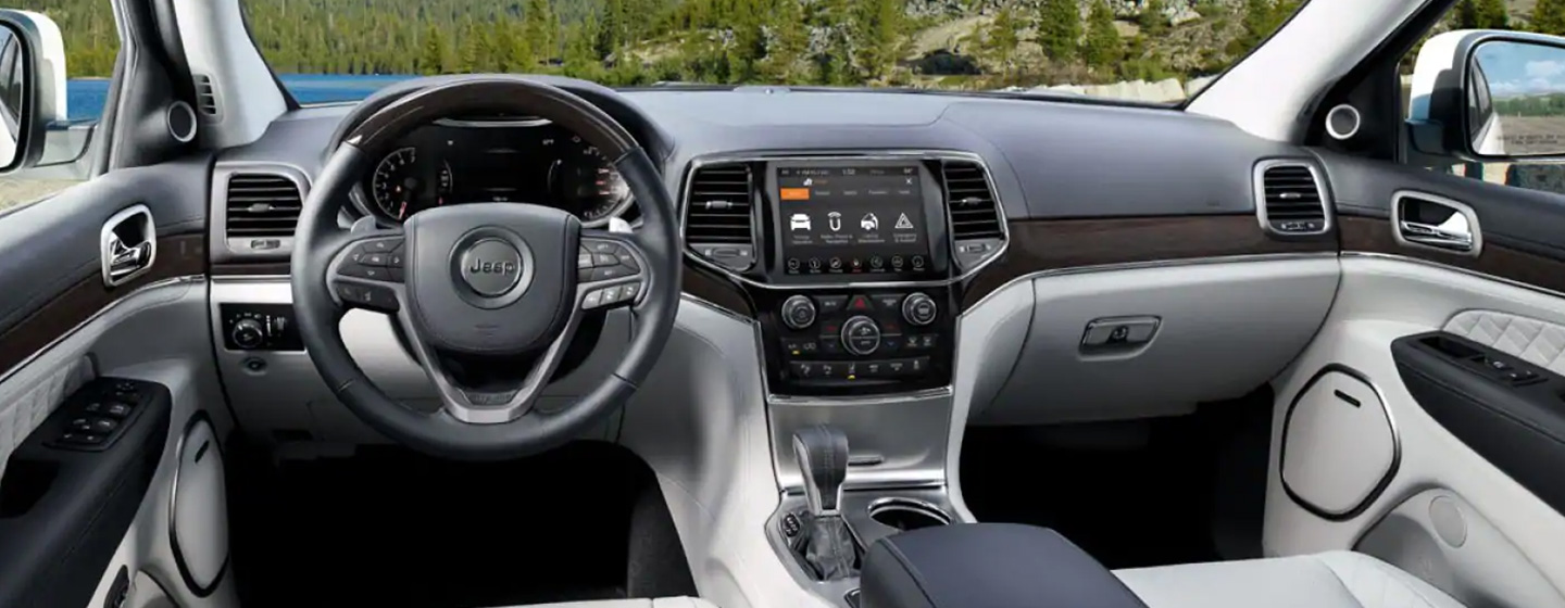 Picture of interior of the 2019 Jeep Grand Cherokee for sale at our Jeep dealership in Lake City.