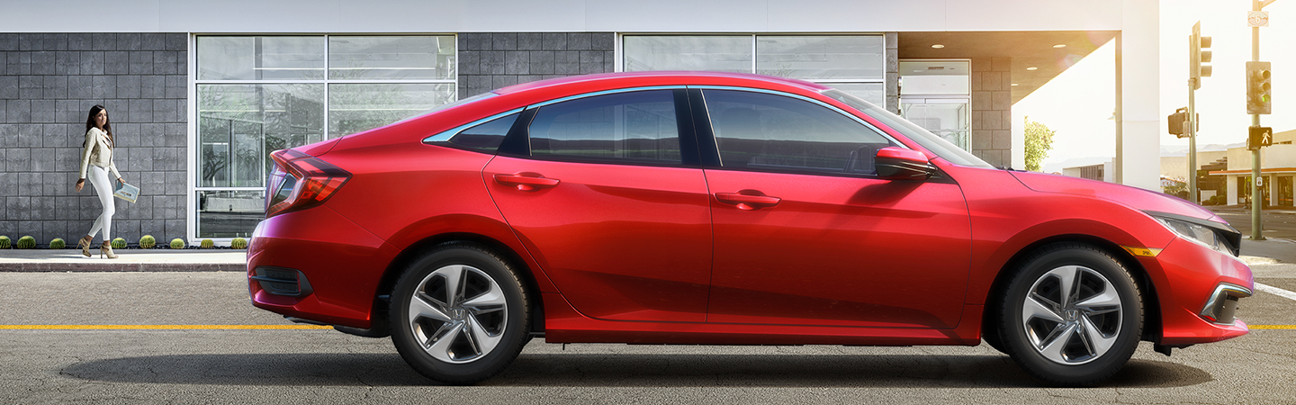 Side view of the 2020 Honda Civic parked outside