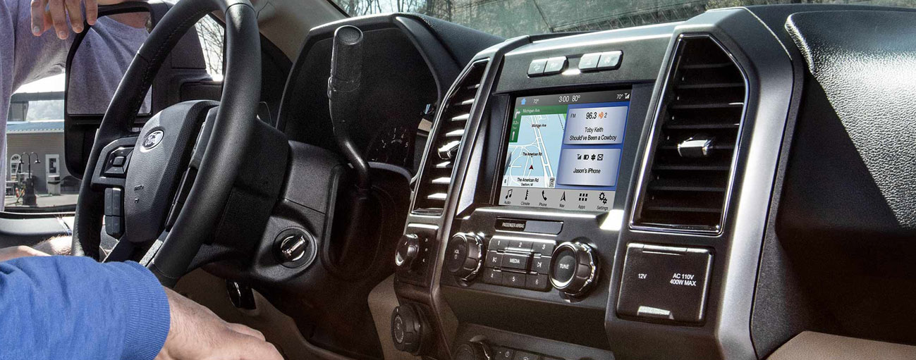 Safety features and interior of the 2019 Ford F-150 - available at our Ford dealership near Oklahoma City, OK.