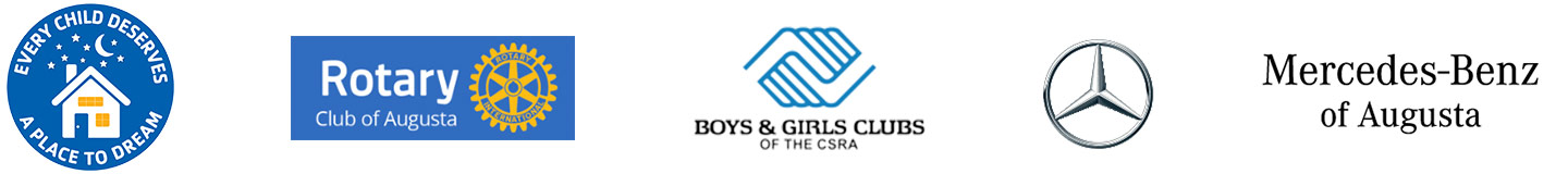 Sponspor Logos - Every Child Deserves A Place TO Dream | Rotary Club of Augusta | Boys & Girls Club of the CSRA | Mercedes-Benz of Augusta