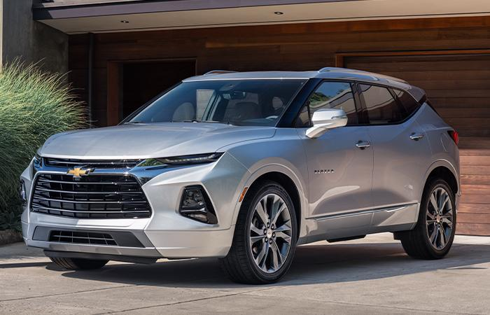 Picture of the new 2020 Chevy Blazer