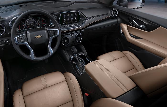 Interior of the 2020 Chevy Blazer.
