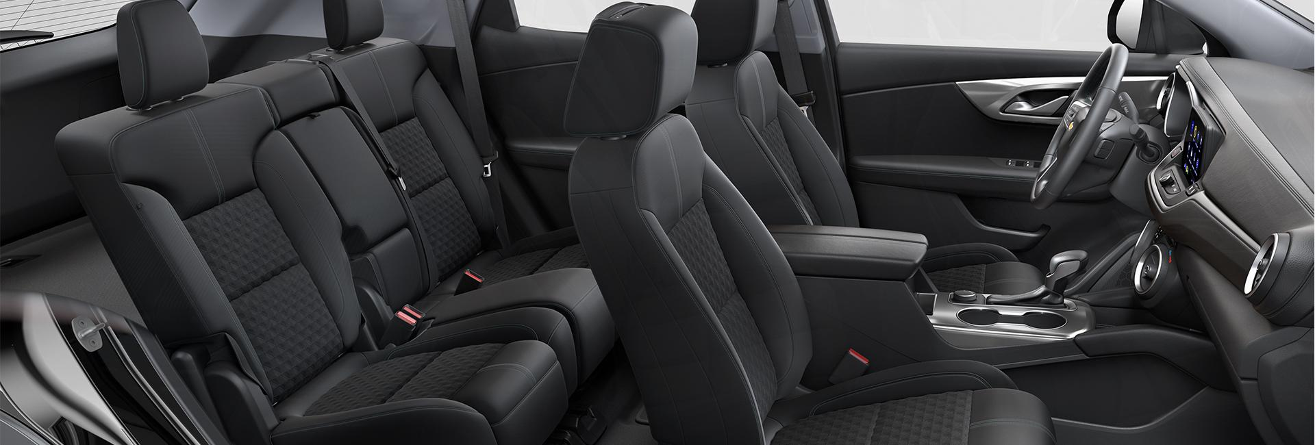 Picture of the interior of the 2020 Chevy Blazer for sale.
