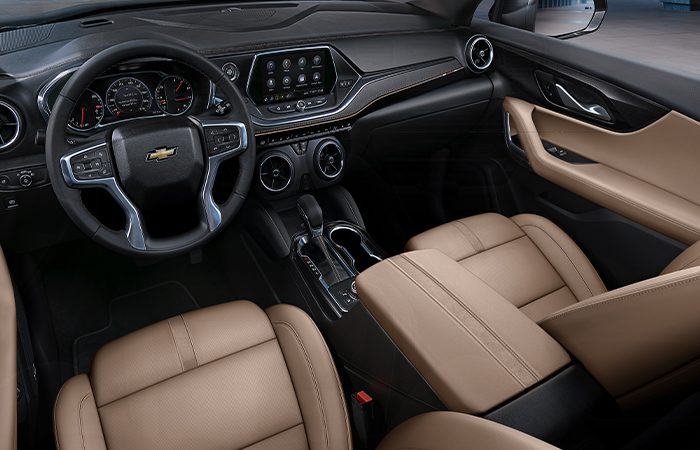 Picture of the interior of the 2020 Chevy Blazer