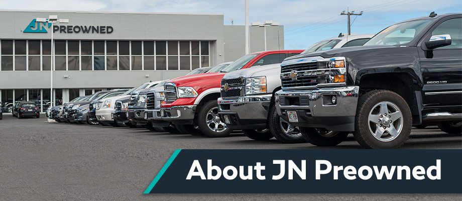 JN Preowned is a used car, truck, and SUV dealership on O'ahu near Kaneohe, HI