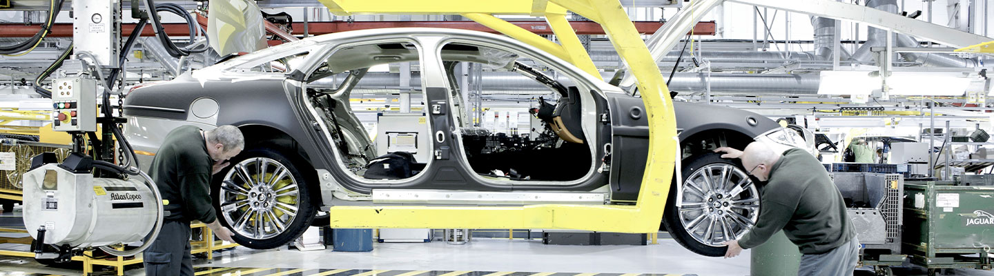 Image of a Jaguar vehicle under construction using OEM parts, available at Jaguar Ocala, FL