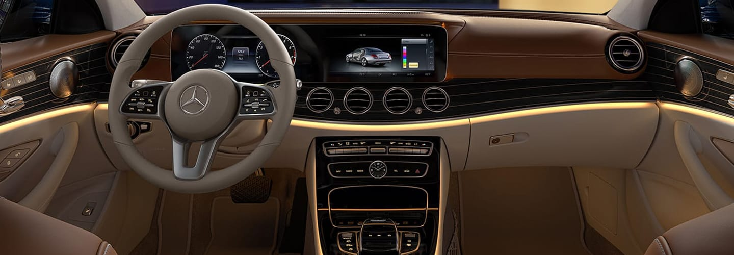Interior view of the 2020 E-Class