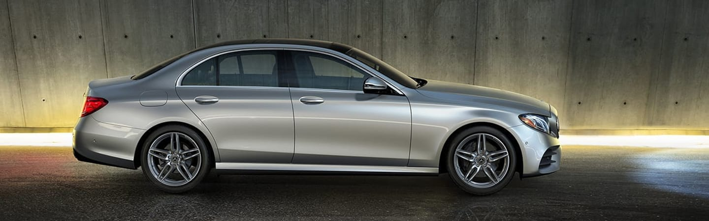 Passenger side profile of the 2020 E-Class