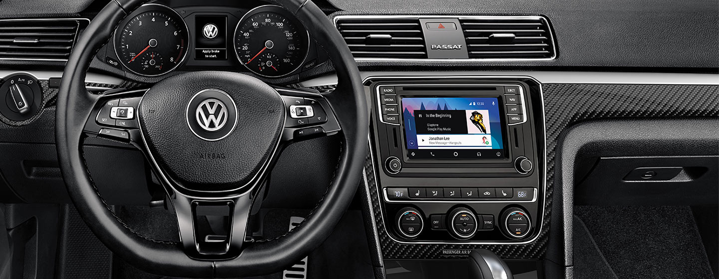 Safety features and interior of the 2019 Volkswagen Passat - available at our Volkswagen dealership in Miami, FL.