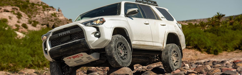 2020 Toyota 4Runner TRD parked on rocks