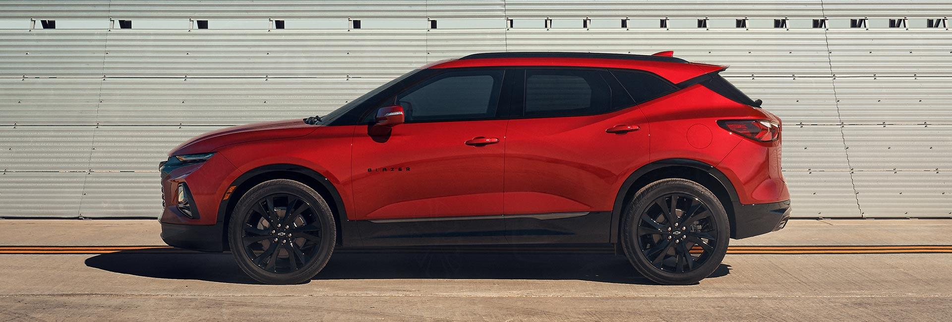 Picture of the exterior of the 2020 Chevy Blazer for sale.