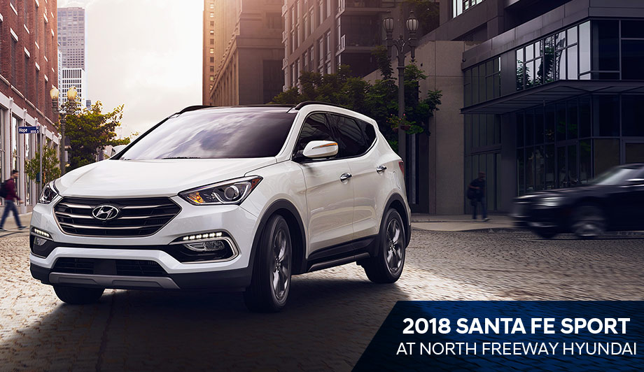 The 2018 Hyundai Santa Fe Sport is available at North Freeway Hyundai Spring TX near Houston