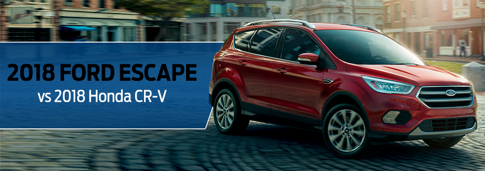 The 2018 Ford Escape Vs The 2018 Honda CR-V available at Zeigler Plainwell Ford near Kalamazoo, MI