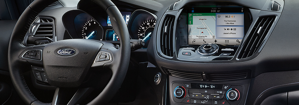 Safety features and interior of the 2018 Ford Escape - available at Zeigler Plainwell Ford near Portage and Grand Rapids, MI