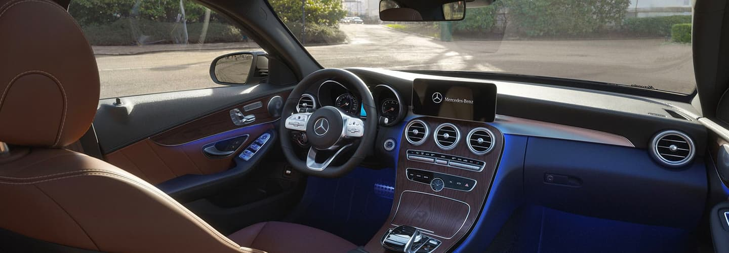 Interior view of the 2020 C-Class