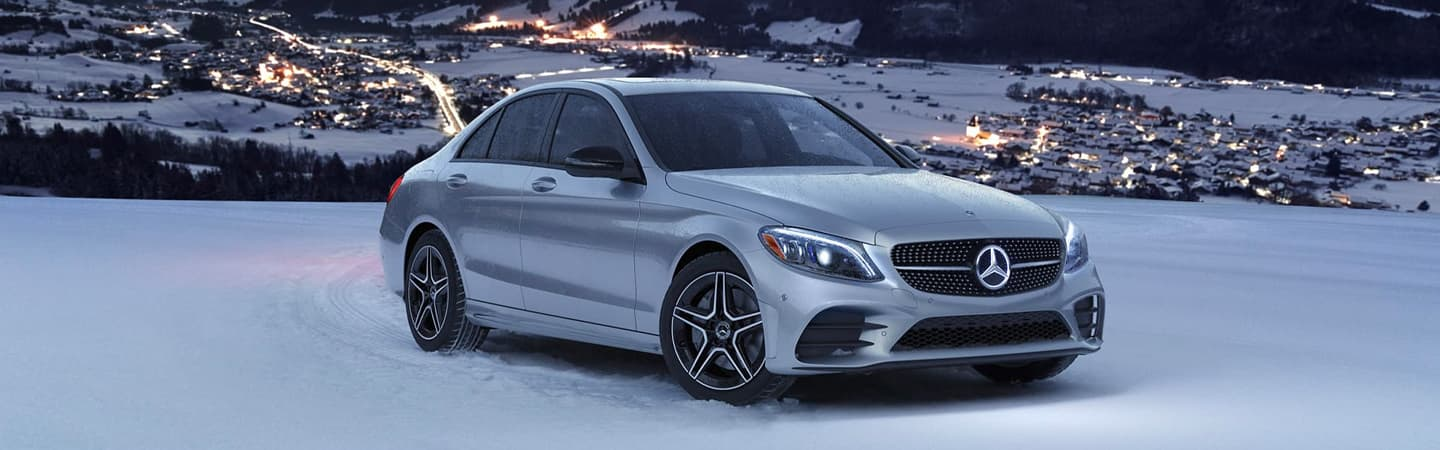 Mercedes-Benz C-Class in the snow