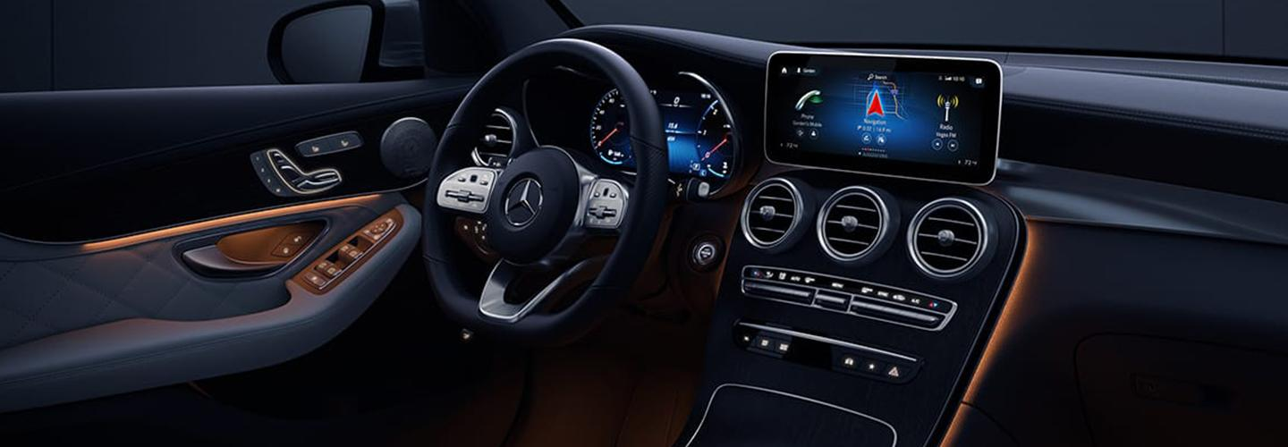 Interior view of the Mercedes-Benz