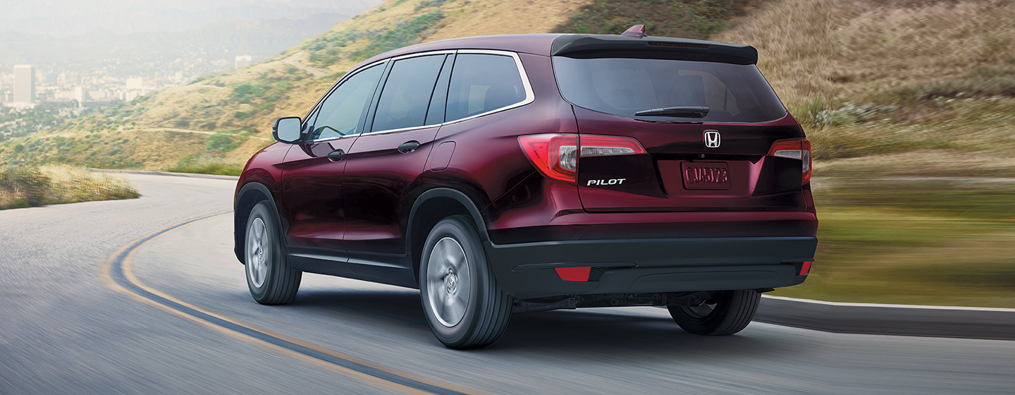 2019 Honda Pilot Exterior - Rear View - Driving on the road.