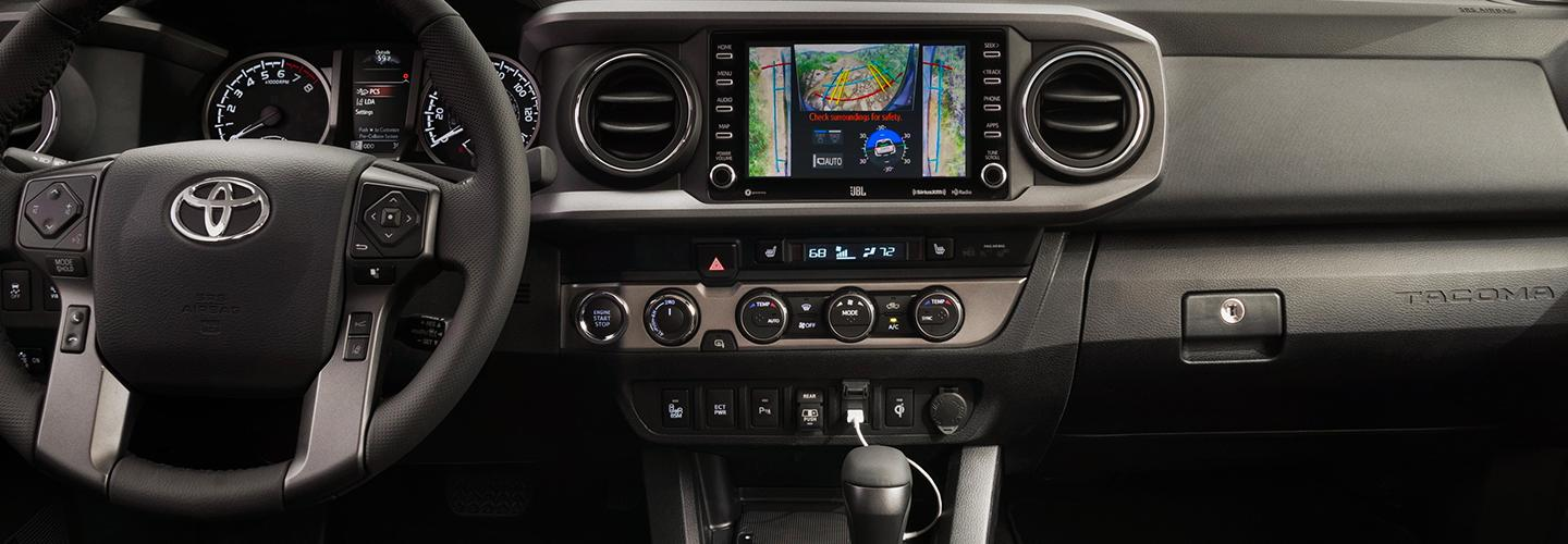 Picture of the interior of the 2020 Toyota Tacoma
