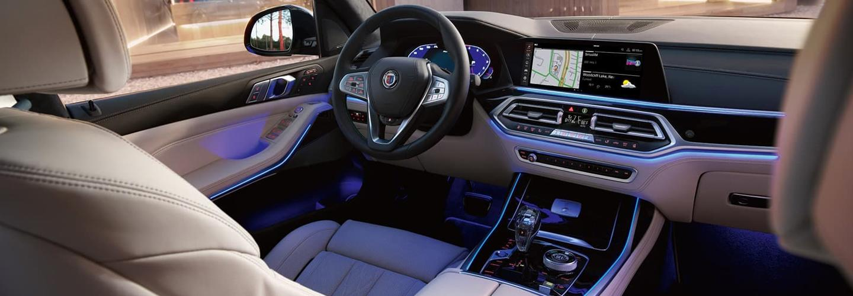 Interior of 2021 BMW X7