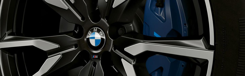 Closeup of BMW Rim