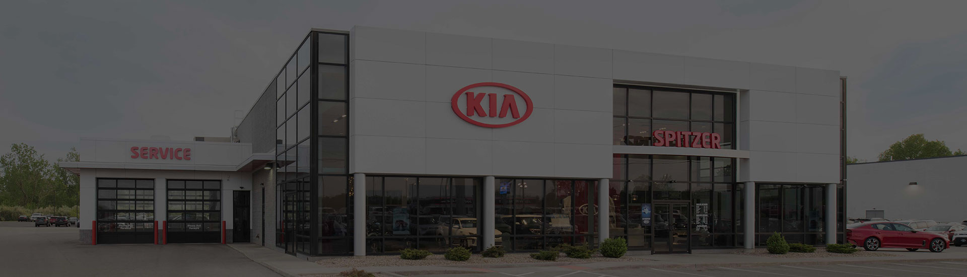 Picture of Spitzer Kia Mansfield dealership in Ontario.
