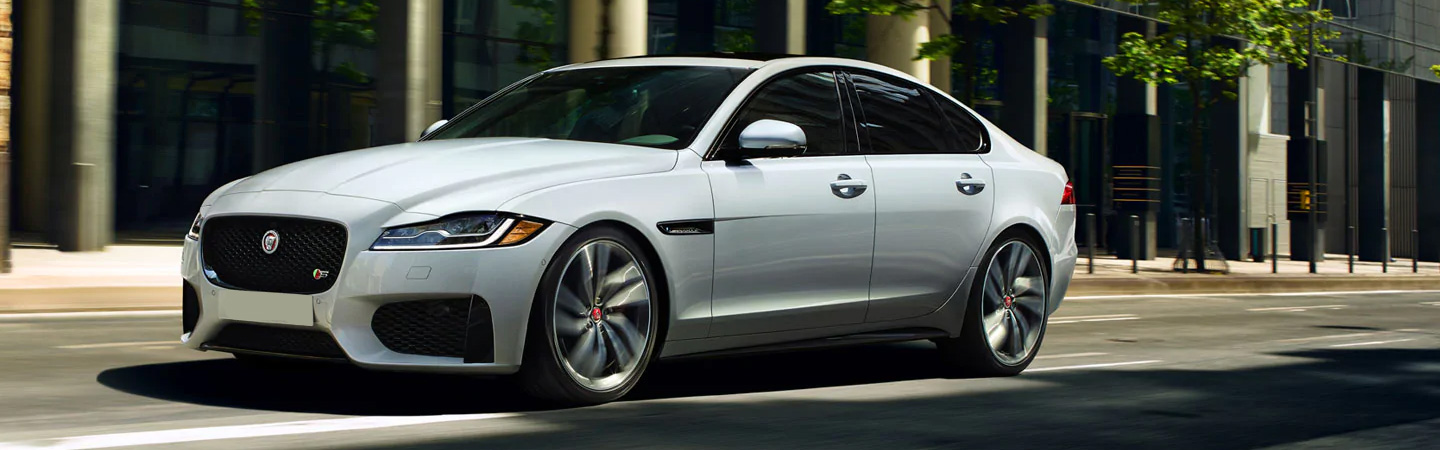 Side view of the 2020 Jaguar XF parked