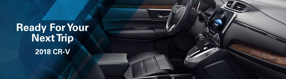 Safety features and interior of the 2018 Honda CR-V - available at Neil Huffman Honda near Jeffersonville and Clarksville, IN