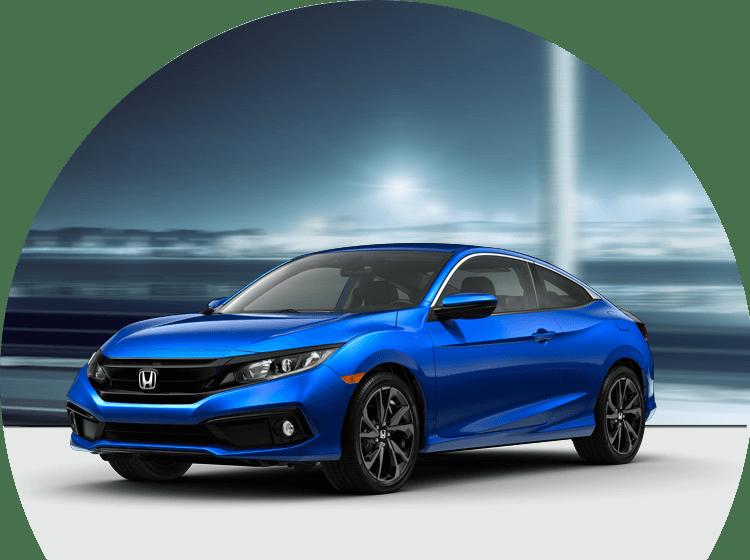 a blue Honda at Spitzer Honda Cleveland