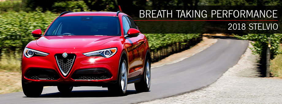 Exterior of the 2018 Alfa Romeo Stelvio at Alfa Romeo Hawaii in Honolulu, HI