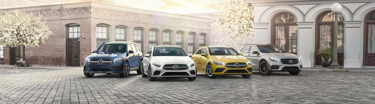 Line-up of 2020 Mercedes-Benz models