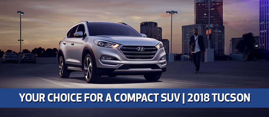 The 2018 Hyundai Tucson is available at Baytown Hyundai near Houston, TX