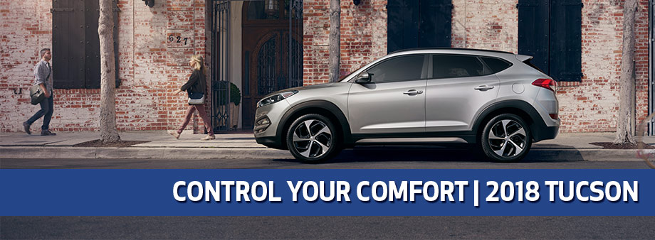 Exterior of the 2018 Hyundai Tucson at Baytown Hyundai in Baytown, TX