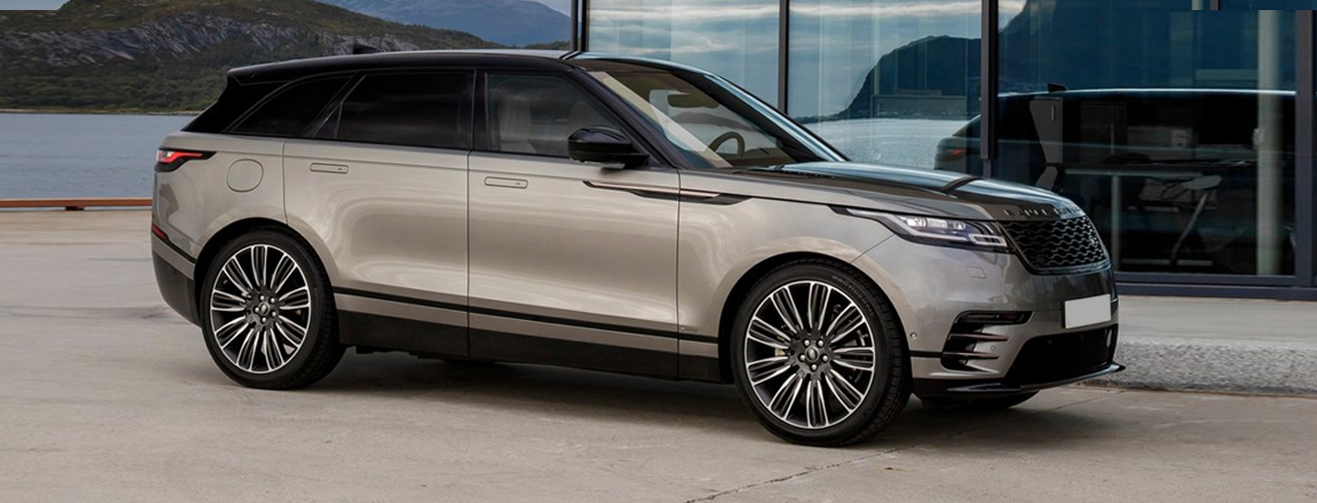 Side profile of the 2020 Range Rover Velar parked