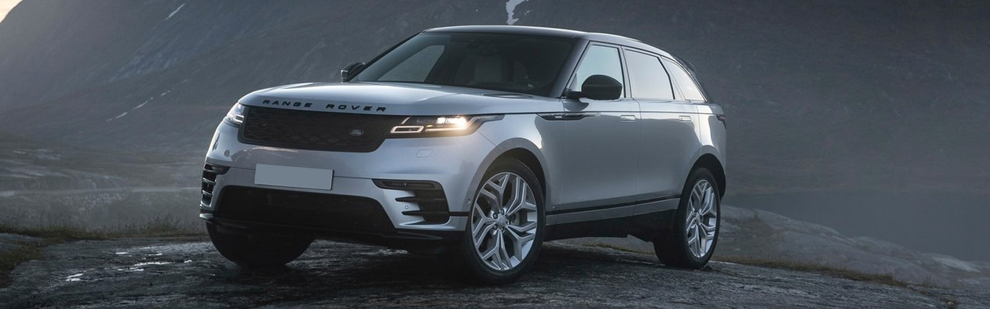 Front view of the 2020 Range Rover Velar parked outside of Land Rover Ocala