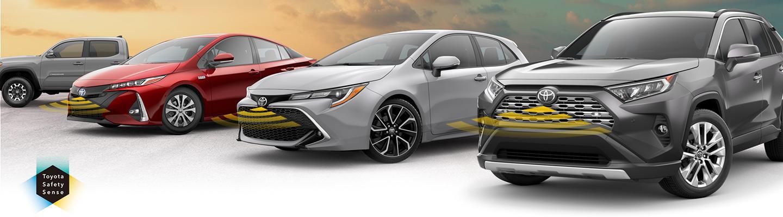 Toyota vehicles using Toyota Safety Sense