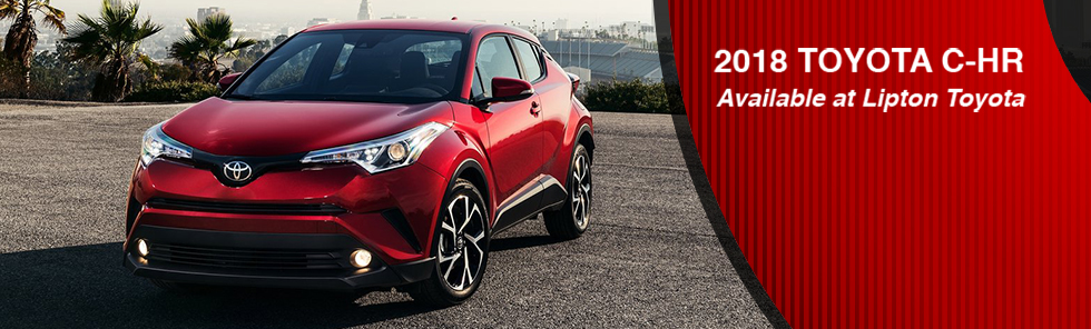 The 2018 Toyota C-HR is available at Lipton Toyota in Fort Lauderdale near Pompano  Beach