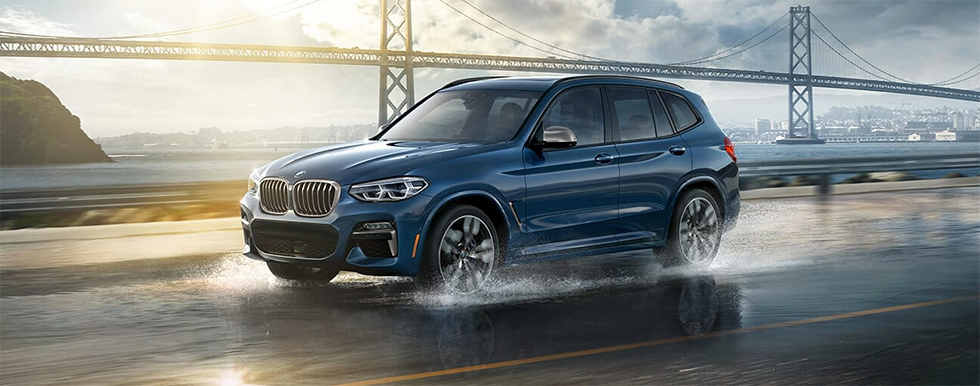 Exterior of the 2019 BMW X3 at our BMW Dealership in Lafayette, IN.