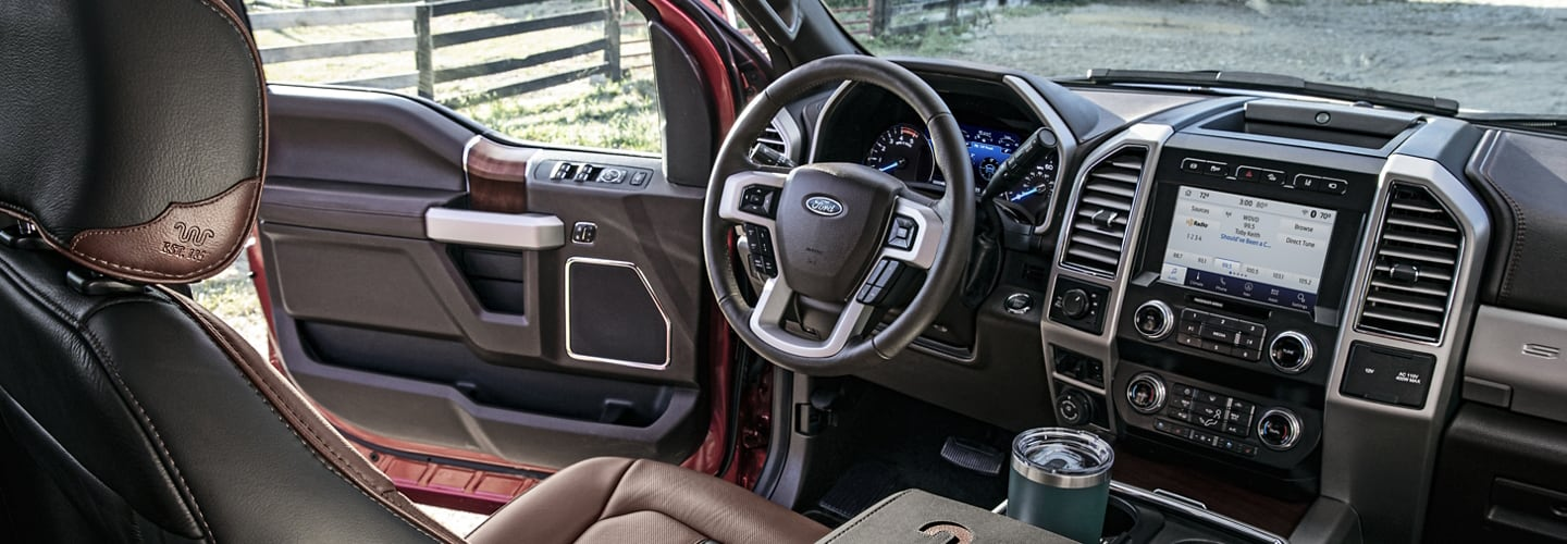 Interior image of the 2020 Ford F-250.